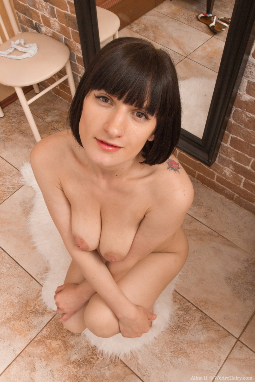 Alina h undresses and masturbates on wooden chair - 1 2